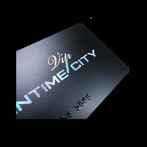 Membership card printing with hot stamping