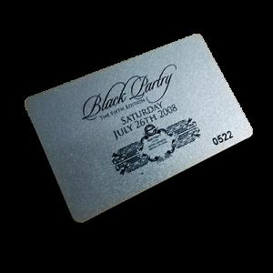 membership card printing with metallic silver