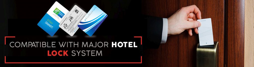 hotel keycards compatible with major hotel door locks