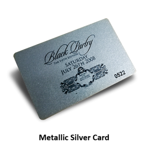 membership card printing with metallic silver